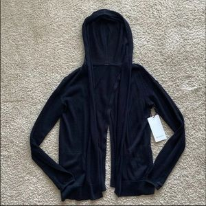 Lululemon Black Cardigan Sweater Hoodie Sz 6